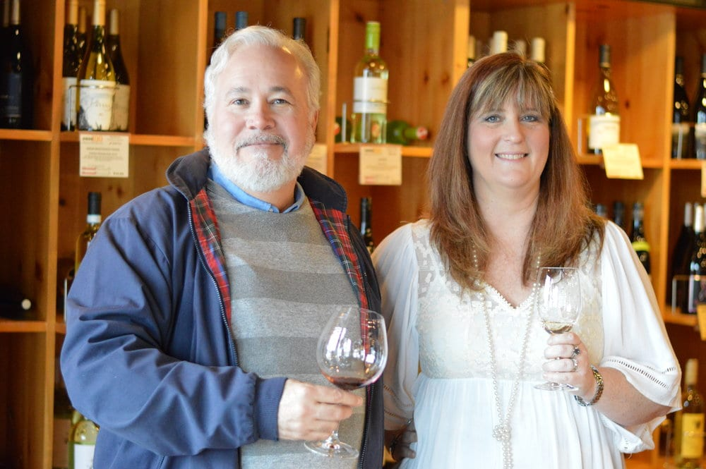 Owner of Vino 100 David Mott and President of Ardenti Global Service Learning Jennifer Young